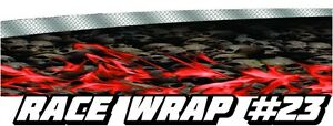 Race Car Graphics 23 Half Wrap Vinyl Decal Imca Late Model Dirt Trailer Truck