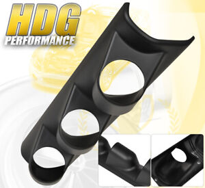 Universal Jdm Triple Hole Gauge Pod Holder Pillar Mount Performance Boost Abs