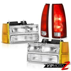 94 98 Silverado 2500 Lights Headlights Corner Bloody Red Taillamps Replacement