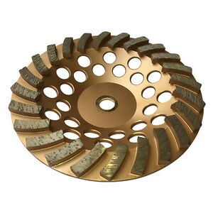 10pk 7 x24segs Spiral Diamond Grinding Cup Wheels For Concrete 7 8 5 8 Arbor