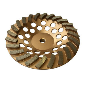 12pk 7 x24segs Spiral Diamond Grinding Cup Wheels For Concrete 5 8 11 Arbor