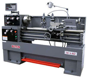 Clark 1440 14 X 40 Precision Gap bed Lathe With Dro New