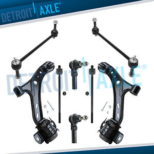 Front Lower Control Arms Outer Inner Tierod 2005 2006 2007 2010 Ford Mustang