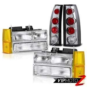 94 98 Gmc Sierra Euro Chrome Headlights Bumper Rear Brake Lights Oe Style Euro