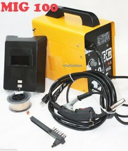 Mig 100 Flux Wire Welding Machine 220v 90amp No Gas Welder Auto Feeding Torch
