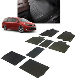 2013 2019 Sienna Floor Mats All Weather Liners 8pc Genuine Toyota Pt908 08170 02