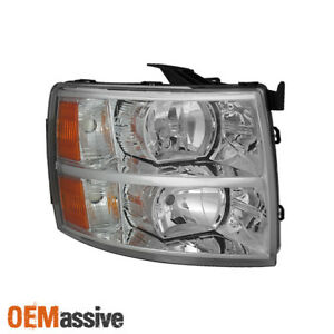 Fit 2007 2013 Silverado Headlights Passenger Side Replacement 2008 2009 2010