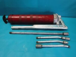 Used Lincoln Lubricating Manual Grease Gun With Tips