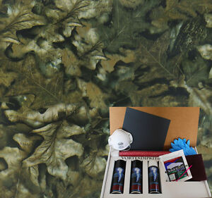 Hydrographics Dip Kit Activator Water Transfer Printing Leaves Camouflage