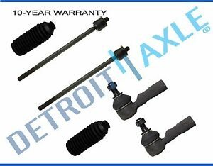 New 6pc Inner And Outer Tie Rod End Link For 1988 1990 1991 1992 Toyota Corolla