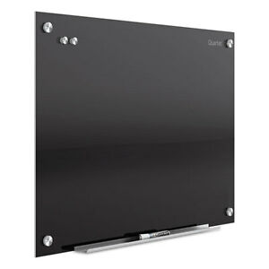 Quartet Infinity Magnetic Glass Marker Board 24 X18 Black