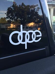 Dope Jdm Vinyl Decal Car Bumper Window Sticker Fresh Illest Drift Fatlace Euro