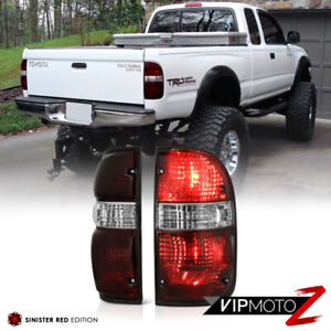 For 01 04 Toyota Tacoma 4x4 Smoke Tinted Oe Style Tail Lights Offroad Left Right