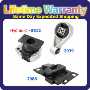 For 2000 2003 Ford Focus 2 0l Engine Motor Trans Mount Set Auto 5312 2939 2986