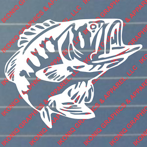 Bass Decal Fishing Hunting Truck Boat Stickers