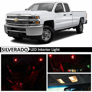 14x Red Interior Led Light Package Kit For 2007 2013 Chevy Silverado
