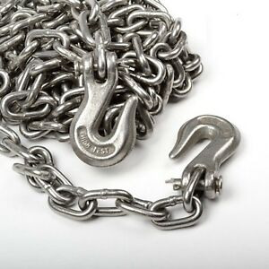 5 16 X 14 Feet Heavy Duty Towing Chain For Cargo Automotive Truck Log Chain