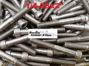 100 1 4 28x2 Socket Allen Head Cap Screw Stainless Steel Fine Thread 1 4x2