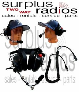 New Dual Ear Racing Headset For Kenwood Tk3402 Tk2402 Tk2160 Tk3160 Tk3230 Tk372