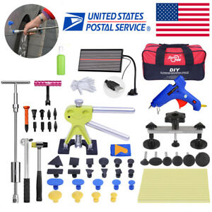 65 Pdr Tool Dent Puller Lifter Paintless Repair Glue Car Hail Ding Removal Kit