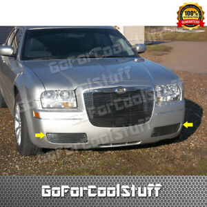 For 2005 2008 2009 2010 Chrysler 300 Bumper Billet Grille Insert fog Light Cover