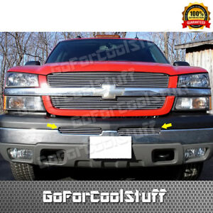 For 2003 2004 2005 2006 Chevy Silverado 1500 Air Dam Billet Grille 2pcs Insert