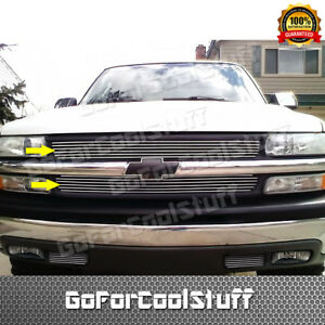For Chevy Silverado 1500 1999 2010 01 2002 Upper Cut Out Billet Grille Insert