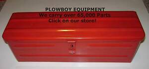 New Red Steel Metal Tool Box 5a3r tbred For Farmall Tractor