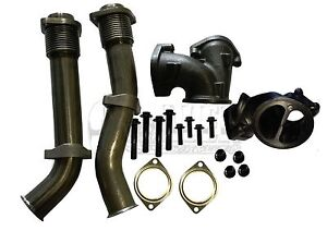 Bellowed Up Pipe Kit For Ford 99 03 7 3l Super Duty Turbo Diesel With Hardware