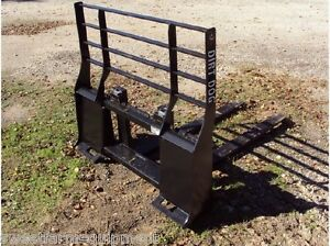 New Dirt Dog Mfg Pallet Forks For Skid Steer Quick Attach Can Ship Cheap