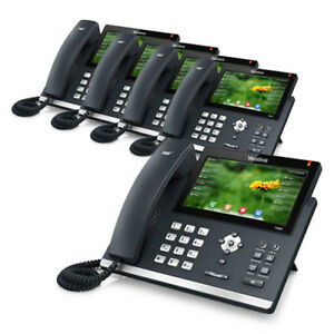 Yealink Sip t48g 5 pack Gigabit Voip Phone With 7 inch Touch Screen Panel