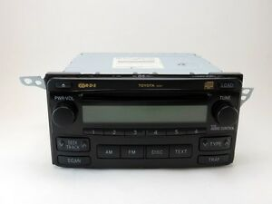 2004 2008 Toyota Matrix Radio And 6 Cd Changer 86120 02410 Oem Sku Q205