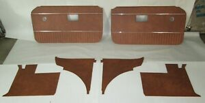 New 6 Piece Interior Panel Set With Door Panels Mgb 1970 80 Autumn Leaf W Chrome