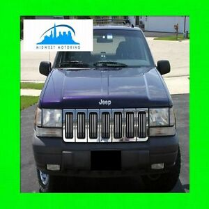 1993 1998 Jeep Grand Cherokee Chrome Grille Grill Trim 1994 1995 1996 1997