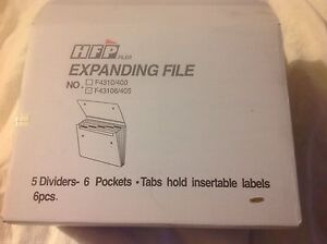 Set Of 6 Clear Expanding File Folder Data Document A4 Paper Organizer