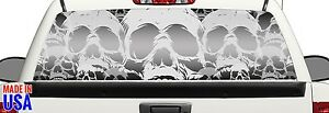 Skulls Pickup Truck Rear Window Graphic Decal Metal