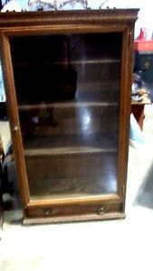 Vintage Oak Bookcase Or Display Case