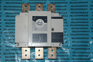 Socomec 27dc3060 Sirco 3x600a Disconnect Switch 600a Dc New