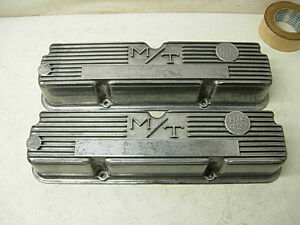 1960s Micky Thompson Ford 427 Aluminum Valve Covers 3293800 390 428 Thunderbolt