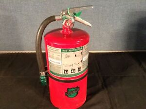 Buckeye Halotron Hand Held Fire Extinguisher With Aluminum Valve And Wall Hook