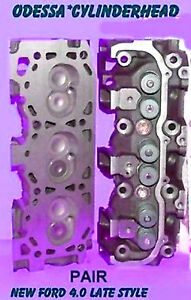 New 2 Ford Mazda Ranger Bronco 4 0 Ohv Late Cylinder Heads Complete No Core