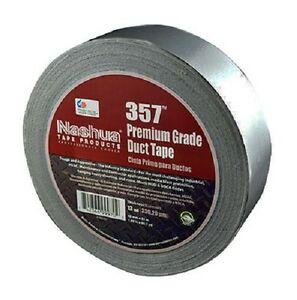 24 Rolls Nashua 357 2 X 60 Yd Gray Hvac Industry All Weather Thick Duct Tape