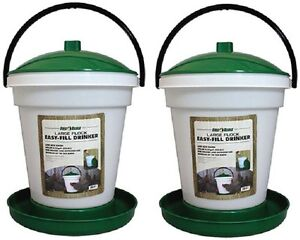 2 Harris Farms 4234 6 25 Gallon Large Flock Poultry Game Bird Waterer Drinkers