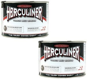 2 Herculiner Hcl1b7 Quart Ready To Use Do It Yourself Roll On Truck Bed Liner