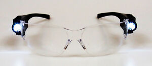 4pair Lab Medical Eyewear Clear Safety Eye Protective Anti fog Goggles Led