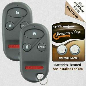 2 For 1996 1997 1998 1999 2000 Honda Accord Civic Cr V Odyssey Remote Key Fob