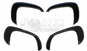 Chevy Silverado Fender Flares Set Of 4 Paintable Matte Black Oe Style For 99 06