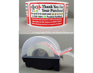 1000 Ebay Amazon Thank You For Your Purchase Labels Stickers Label Dispener