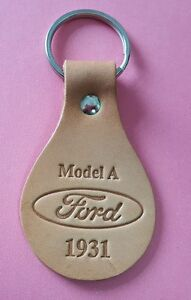 New 1931 Ford Model A Leather Key Fob