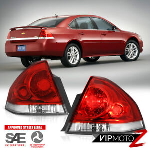 06 07 08 09 10 11 12 13 Chevy Impala Lt Red Clear Taillamps Parking Brake Lights